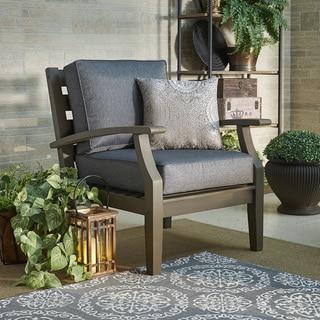 Yasawa Grey Modern Outdoor Cushioned Wood Chair by NAPA LIVING