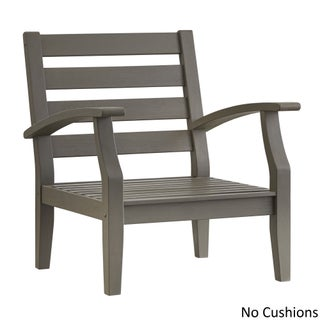 Yasawa Grey Modern Outdoor Cushioned Wood Chair iNSPIRE Q Oasis (More options available)