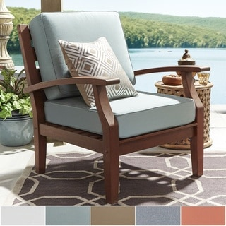 Yasawa Brown Modern Outdoor Cushioned Wood Chair by NAPA LIVING