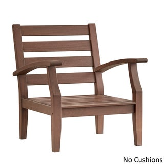 Yasawa Brown Modern Outdoor Cushioned Wood Chair iNSPIRE Q Oasis (More options available)