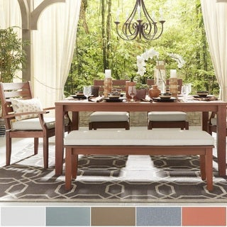 Yasawa Modern Brown Wood Outdoor Rectangle 6-piece Dining Set iNSPIRE Q Oasis