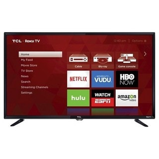 Black 40-inch 1080p 120Hz Roku Smart LED TV