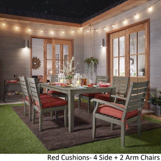 Yasawa Modern Grey Wood Outdoor Rectangle 7-piece Dining Set iNSPIRE Q Oasis (2 options available)