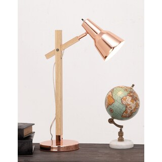 Urban Designs Cadiz Copper FInish Wood Executive Task Table Lamp