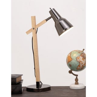 Urban Designs Cadiz Graphite Wood Executive Task Table Lamp