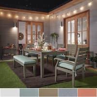 Yasawa Modern Grey Wood Outdoor Rectangle 6-piece Dining Set iNSPIRE Q Oasis