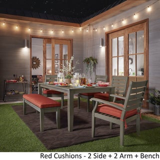 Yasawa Modern Grey Wood Outdoor Rectangle 6-piece Dining Set iNSPIRE Q Oasis (2 options available)