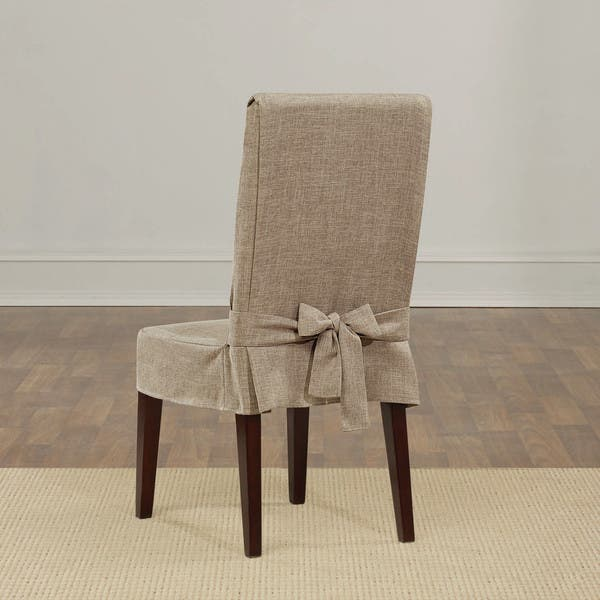 Sure Fit Textured Linen Shorty Dining Room Chair