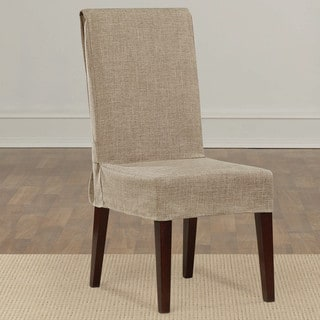 Sure Fit Textured Linen Shorty Dining Room Chair Slipcover