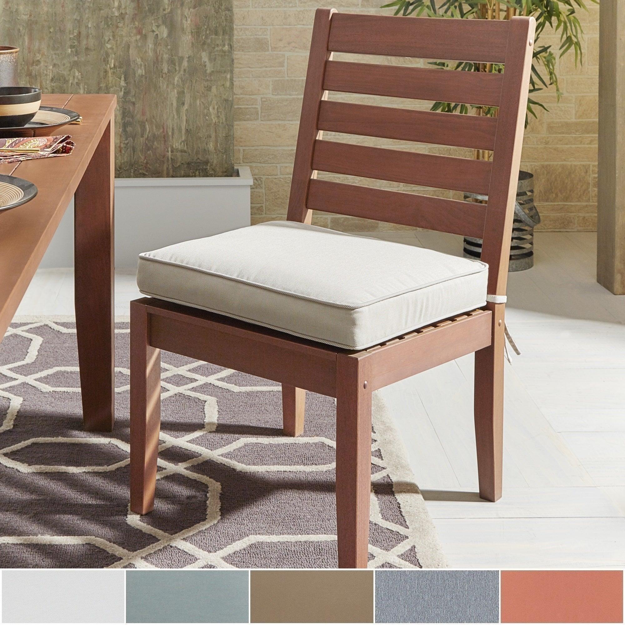 Yasawa Modern Wood Outdoor Cushioned Dining Side Chair (S...