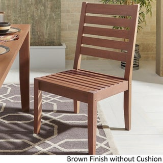 Yasawa Modern Wood Outdoor Cushioned Dining Side Chair (Set of 2) iNSPIRE Q Oasis (More options available)