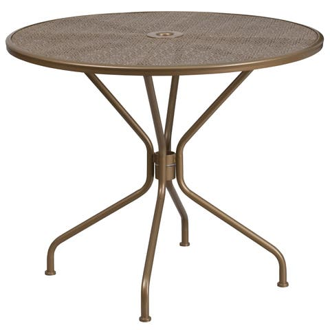 """Havenside Home Bethune Round Steel Patio Table - 32.5"""""""