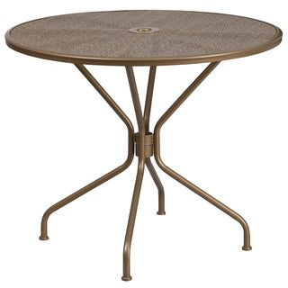 Havenside Home Bethune Round Steel Patio Table