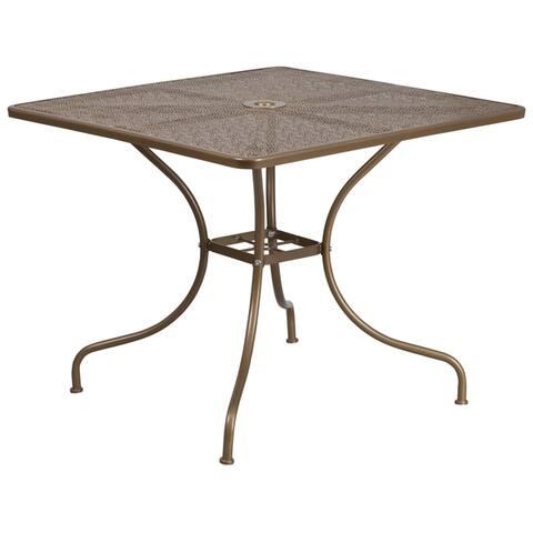 """Havenside Home Belvon Steel Indoor/ Outdoor Patio Table - 32.5"""""""