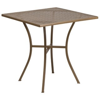 28-inch Square Indoor-Outdoor Steel Patio Table