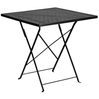 "28 inch Folding Patio Table - 28"" (Option: Black)"