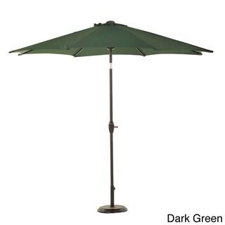 Grand Patio 9-foot Outdoor Aluminum Market Umbrella with Auto Tilt and Crank, 8 Ribs