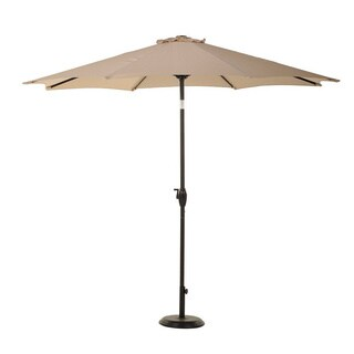 Grand Patio 9-foot Outdoor Aluminum Market Umbrella with Auto Tilt and Crank, 8 Ribs