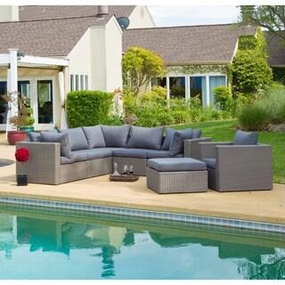 Corvus Sevilla 7-piece Grey Wicker Patio Furniture Set