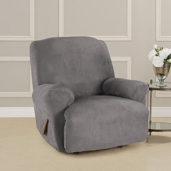 Shop Sure Fit Ultimate Stretch Suede Recliner Slipcover