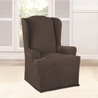 Sure Fit Everyday Chenille Corded Wing Chair Slipcover