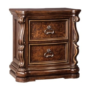 Signature Design by Ashley Florentown Dark Brown Two Drawer Night Stand