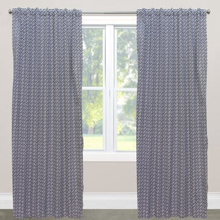 Skyline Cross Section White, Black, and Grey Cotton Blackout Window Curtain Panel