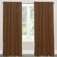 Skyline Furniture Cheetah Earth Brown Fabric Window Curtain Panel