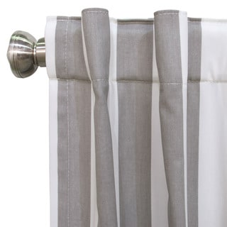 Skyline Canopy Multicolor Cotton Striped Blackout Window Curtain Panel