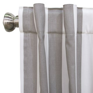 Skyline Canopy Multicolor Cotton Striped Blackout Window Curtain Panel (More options available)
