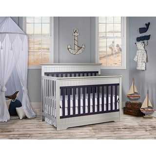 baby furniture for less. Dream On Me Chesapeake Platinum And Navy 5-in-1 Convertible Crib Baby Furniture For Less A
