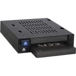 "Icy Dock FlexiDOCK MB522SP-B Drive Enclosure for 3.5"" 6Gb/s SAS, Serial ATA/600 - Serial ATA/600 Host Interface Internal - Blac"