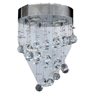"Crystal Rainfall Collection 2 Light Chrome Finish Crystal Mirror Wall Sconce 12"" W x 17"" H Modern Medium"