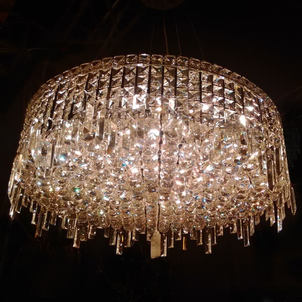 sports shoes 968fe 652e1 Shop Glam Art Deco 12 Light Crystal Round Flush Mount ...