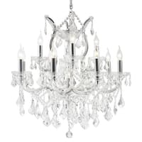 Maria Theresa Grand Collection 13 Light Chrome Finish Crystal Chandelier 27-inch x 26-in Two 2 Tier Large