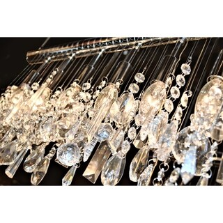 "Urban Linear Collection 13 Light Chrome Finish and Clear Crystal Vanity Wall Sconce 48"" Wide x 10"" H Modern Extra Large"
