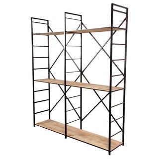 Aluminum and MDF Etagere Shelf