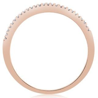 14k Rose Gold 1/6ct Diamond Stackable Wedding Ring 14K Rose Gold (J-K, I2-I3)