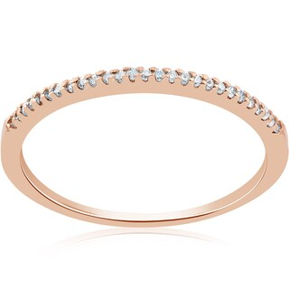 14k Rose Gold 1/6ct Diamond Stackable Wedding Ring 14K Rose Gold (J-K, I2-I3)