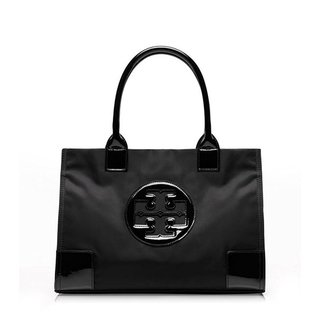 Tory Burch Mini Ella Black Nylon Tote