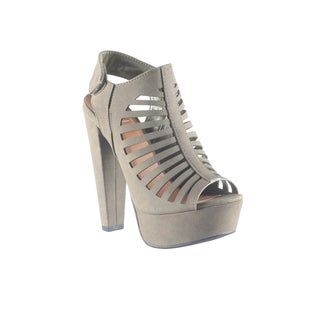 Hadari Women's Slingback Peep Toe Platform Wedge Heel Sandal