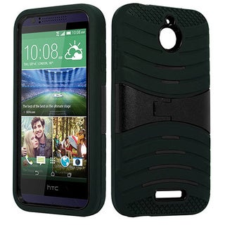 HTC Desire 510 Black TPU Armor Case with Stand