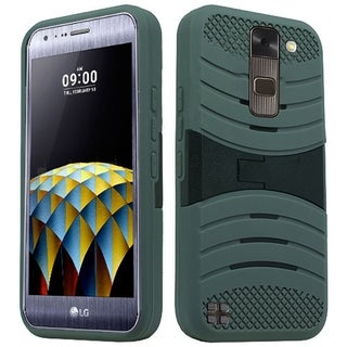 LG Stylo 2 LS775 Grey TPU XL Armor Case with Stand