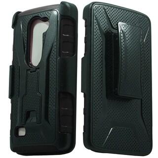 LG Leon H320 Power L22c Destiny TPU/PC Combo Holster Style 3