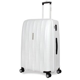 SwissGear White Polypropylene 28-inch Hardside Spinner Suitcase