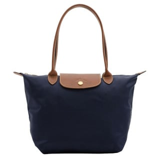 Longchamp Le Pliage Navy Blue Nylon Small Foldable Shoulder Tote Bag