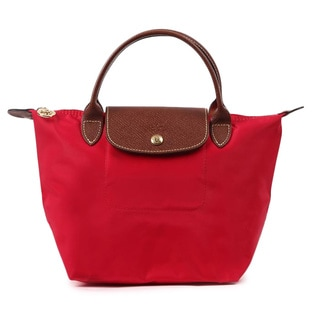Longchamp Women's Le Pliage Red Nylon Small Foldable Shoulder Tote Bag