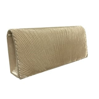 Alfa Black/Gold/Silver Faux Leather/Satin/Fabric Elegant Evening Clutch Handbag