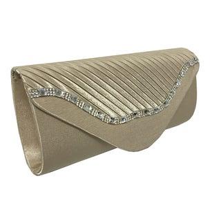 Alfa Elegant Black Faux Leather Fabric Evening Clutch Handbag