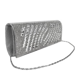 Alfa Silver Evening Clutch Handbag